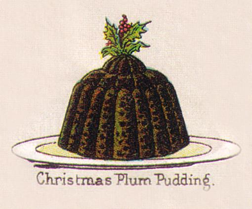 Mrs Beeton Xmas Plum Pudding, 1890s