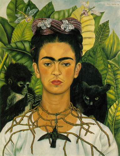 Frida Kahlo, Self-portrait with Thorn Necklace and Hummingbird, Nikolas Muray Collection, Harry Ransom Center, The University of Texas at Austin