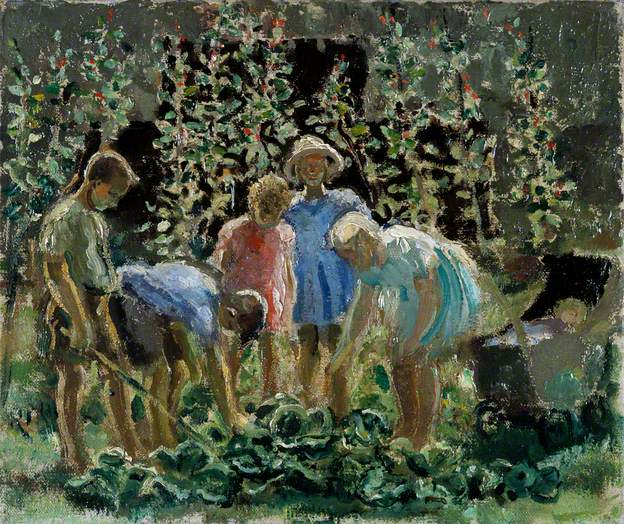 Leila_Faithfull Evacuees Growing Vegatables 1940