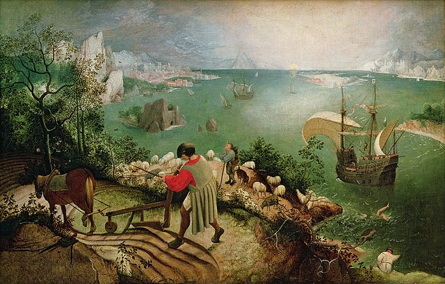 Peter Breughel, Landscape with the Fall of Icarus, Royal Museums of Fine Arts of Belgium