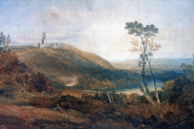 Turner, Fonthill Abbey, 1800